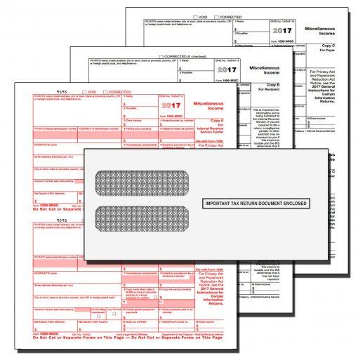 1099 MISC 3 Part tax form kit