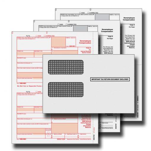 1099 NEC 3 Part Tax Forms