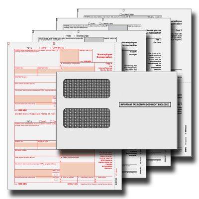 1099 NEC 4 Part Tax Forms