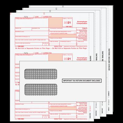 2021 1099-NEC 4 Part Kit