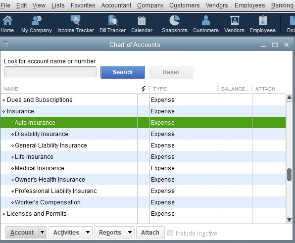 How to Delete/Remove an Existing Account already set up in the Chart of Accounts in QuickBooks