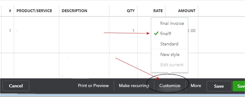 How to Assign a Custom Template to an Invoice for Customizing QuickBooks Online Invoice Forms
