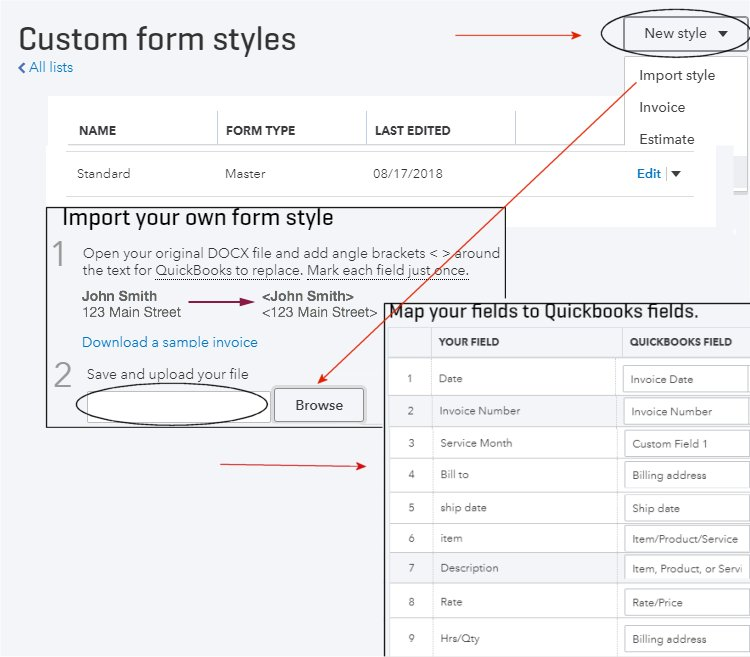 How to Import Invoice Styles in QuickBooks Online