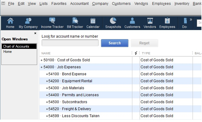 How to set up a Chart of Accounts in QuickBooks - QBalance com