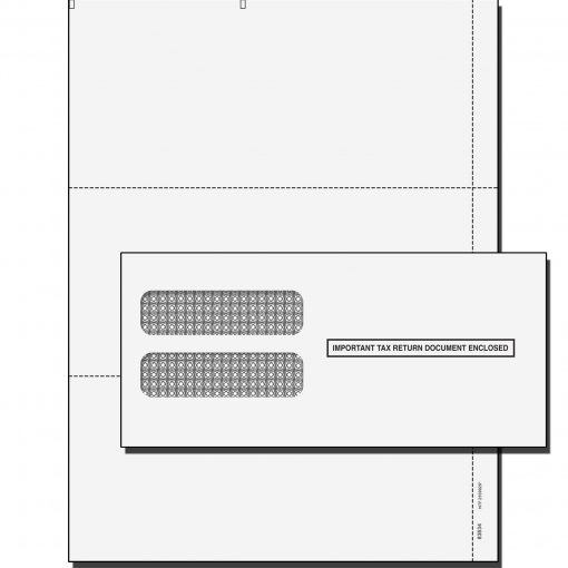 W2 3 UP Blank Perforated tax form kit