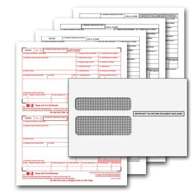 QuickBooks W2 4 Part Pre-printed Tax Kit