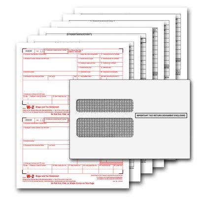 QuickBooks W2 6 Part Pre-printed Tax Kit